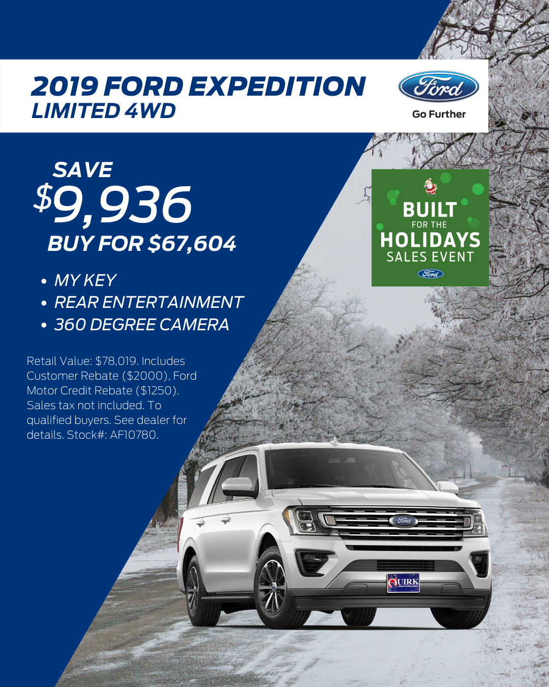 My Ford Credit >> 2019 Ford Expedition Limited Quirk Ford Of Augusta
